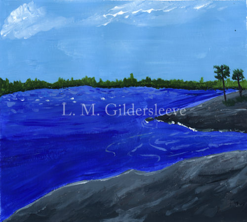 Painted New England Seascape