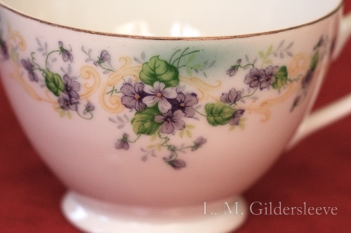 a photograph of a Lefton china tea cup