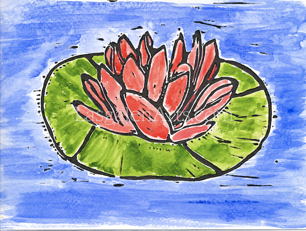 The red water lily print