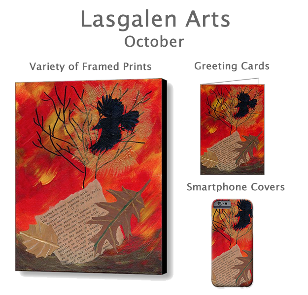 October prints, cards and smartphone covers found in my gallery.