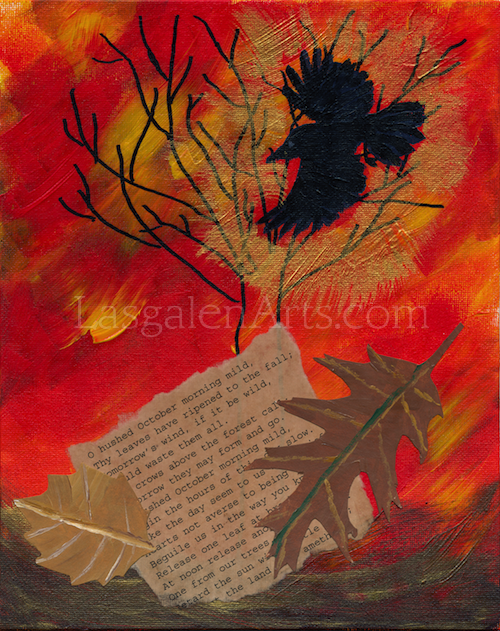 October - mixed media