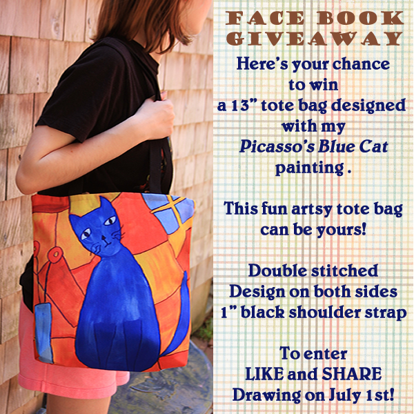Image of a girl holding a tote bag for a giveaway.