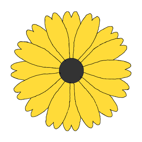 Digital black eye susan